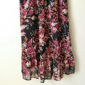 Elle Dresses - Elle Floral Black Multi Color Dress
